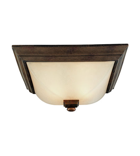 Dolan Designs Belltown 2 Light Flushmount in Sienna 2377-90 photo