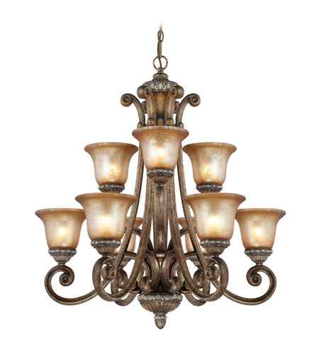 Dolan Designs 2402-162 Carlyle 9 Light 32 inch Verona Chandelier Ceiling Light in Aged Amber photo
