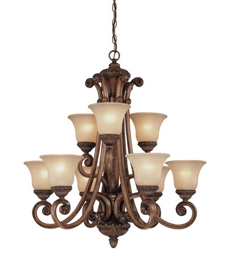 Dolan Designs 2402-54 Carlyle 9 Light 32 inch Canyon Clay Chandelier Ceiling Light in Carmelized photo