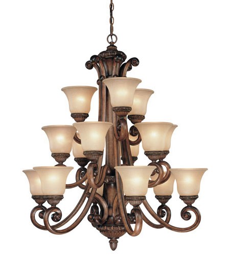 Dolan Designs 2403-54 Carlyle 15 Light 37 inch Canyon Clay Chandelier Ceiling Light in Carmelized photo