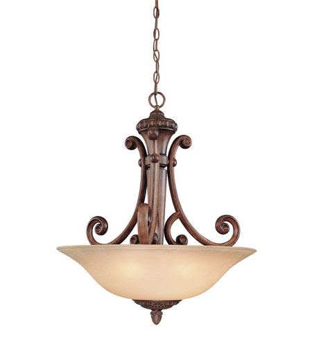 Dolan Designs Carlyle 3 Light Pendant in Canyon Clay 2404-54 photo