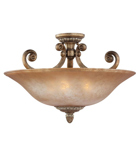 Dolan Designs Carlyle 3 Light Semi-Flush Mount in Verona 2407-162 photo
