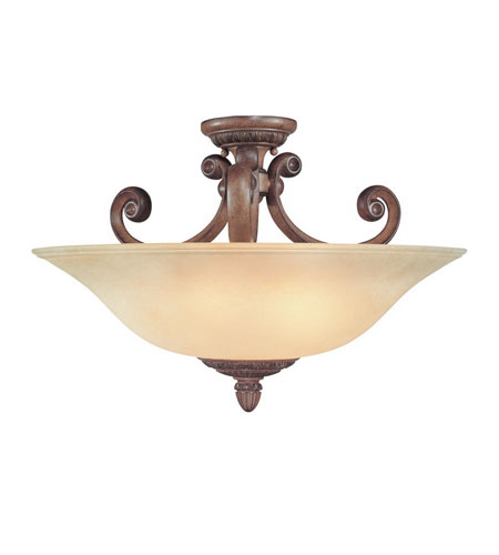 Dolan Designs Carlyle 3 Light Semi-Flush Mount in Canyon Clay 2407-54 photo