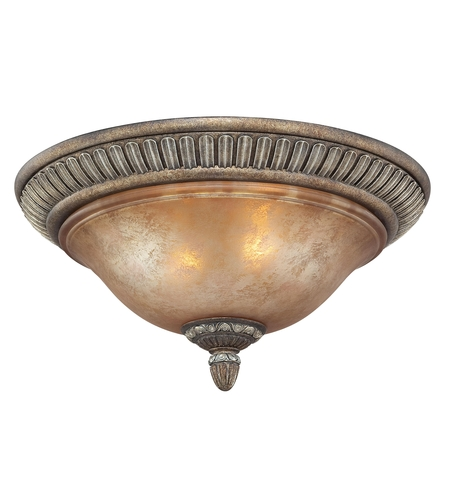 Dolan Designs 2408-162 Carlyle 2 Light 16 inch Verona Flushmount Ceiling Light in Aged Amber photo