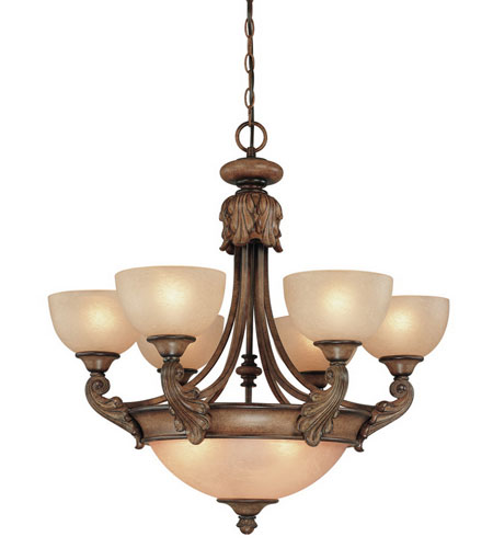 Dolan Designs Fairview 9 Light Chandelier in Canyon Clay 2450-54 photo