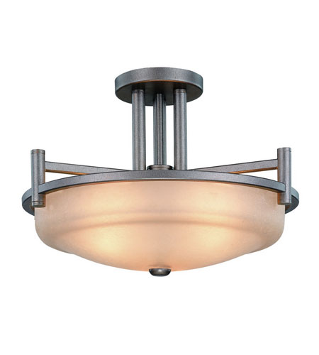 Dolan Designs Cortona 3 Light Semi-Flush Mount in Vista 2625-66 photo