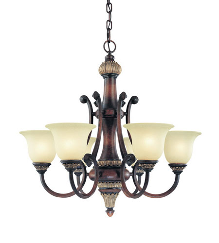 Dolan Designs Bonita 6 Light Chandelier in Yuma 2640-211 photo