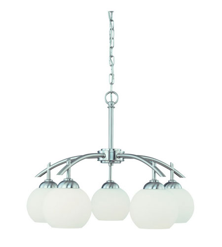 Dolan Designs Cathedral 5 Light Chandelier in Satin Nickel 2870-09 photo