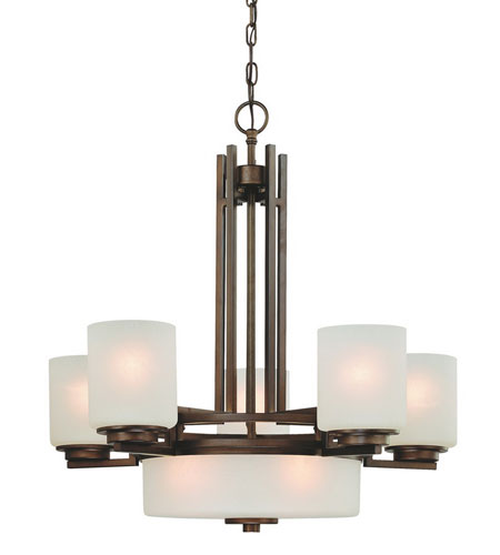 Dolan Designs Multnomah 8 Light Chandelier in Heirloom Bronze 2880-62 photo