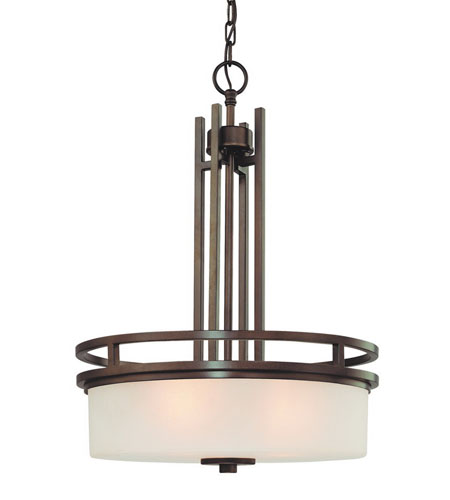 Dolan Designs Multnomah 3 Light Pendant in Heirloom Bronze 2884-62 photo
