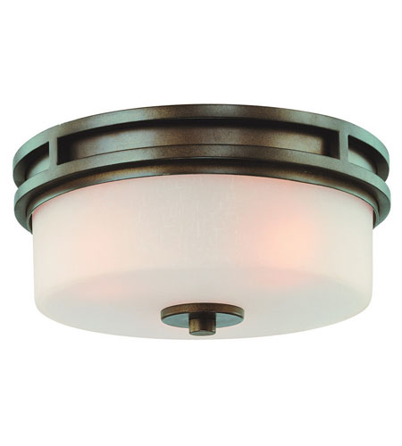 Dolan Designs Multnomah 3 Light Flushmount in Heirloom Bronze 2888-62 photo
