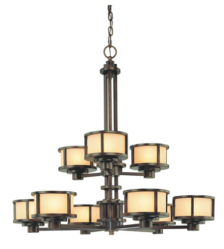 Dolan Designs Bridgetown 9 Light Chandelier in Heirloom Bronze 2892-62 photo