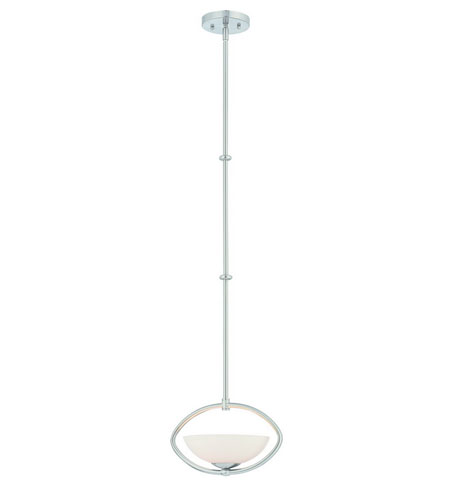 Dolan Designs Rainier 1 Light Mini Pendant in Satin Nickel 2901-09 photo