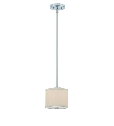 Dolan Designs Tecido 1 Light Mini Pendant in Satin Nickel 2941-09 photo