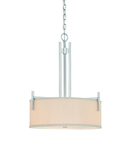 Dolan Designs Tecido 3 Light Pendant in Satin Nickel 2944-09 photo