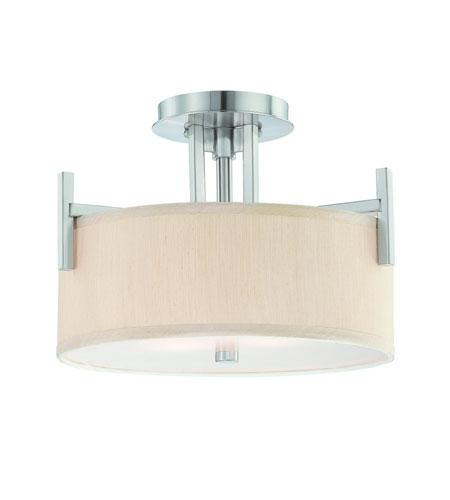 Dolan Designs Tecido 2 Light Semi-Flush Mount in Satin Nickel 2945-09 photo