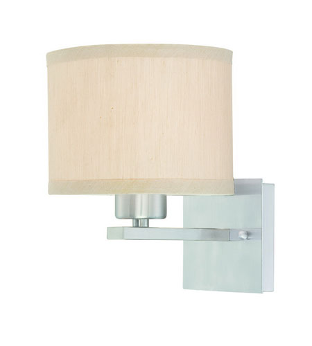 Dolan Designs Tecido 1 Light Wall Sconce in Satin Nickel 2946-09 photo