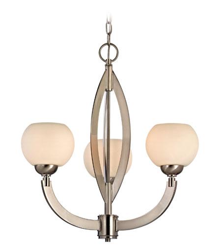 Dolan Designs Odyssey 3 Light Chandelier in Satin Nickel 2967-09 photo