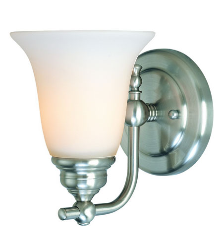 Dolan Designs Hamilton 1 Light Wall Sconce in Satin Nickel 3241-09 photo