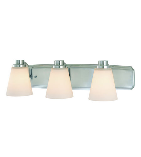 Dolan Designs 3403-09 Southport 3 Light 24 inch Satin Nickel Bath Vanity Wall Light photo