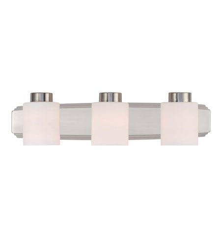 Dolan Designs 3503-09 Westport 3 Light 24 inch Satin Nickel Bath Bar Wall Light photo