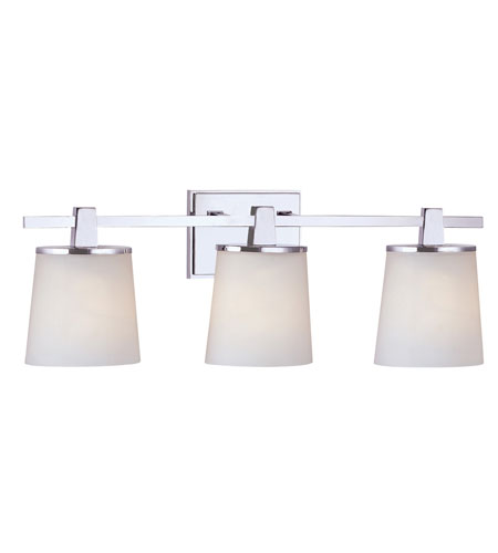 Vanity Wall Lights : Dolan Designs 3783-26 Ellipse 3 Light 24 inch Chrome Bath Vanity Wall Light