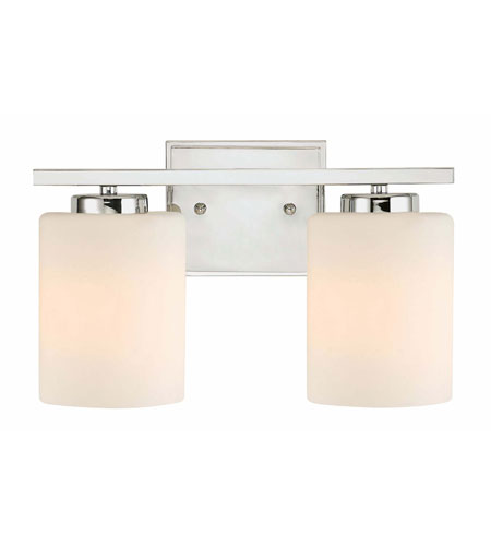 Dolan Designs 3882-26 Chloe 2 Light 12 inch Chrome Bath Bar Wall Light