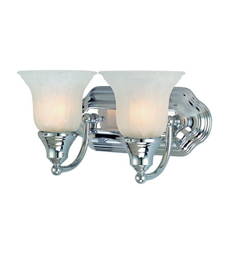 Dolan Designs 468-26 Richland 2 Light 13 inch Chrome Bath Vanity Wall Light in Alabaster photo