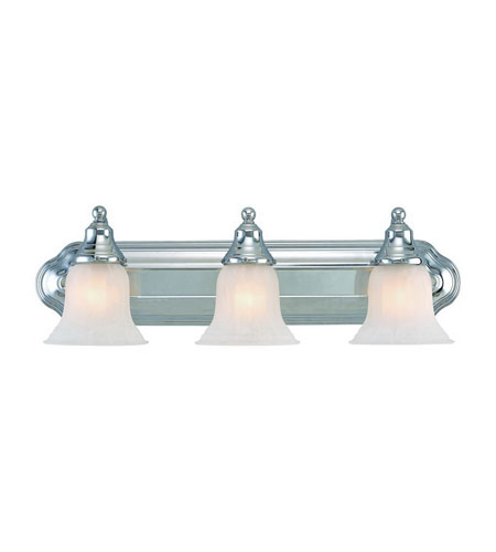 Dolan Designs 469-26 Richland 3 Light 24 inch Chrome Bath Vanity Wall Light in Alabaster photo
