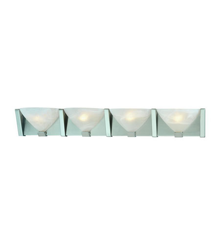 Dolan Designs 474-09 Tucker 4 Light 36 inch Satin Nickel Bath Vanity Wall Light in Alabaster photo