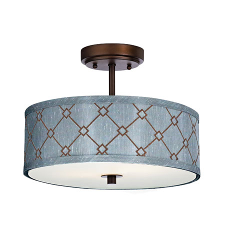 Dolan Designs Rio 3 Light Semi-Flush Mount in Neuvelle Bronze 5105-220 photo