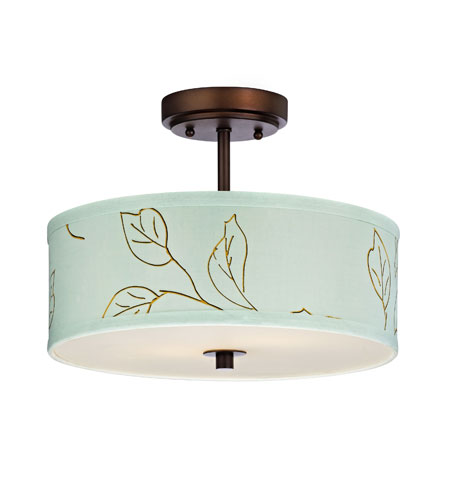 Dolan Designs Rio 3 Light Semi-Flush Mount in Neuvelle Bronze 5125-220 photo
