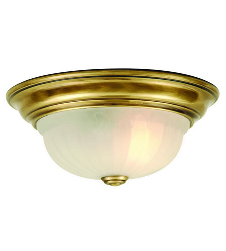 Dolan Designs 521-18 Richland 1 Light 11 inch Old Brass Flushmount Ceiling Light photo