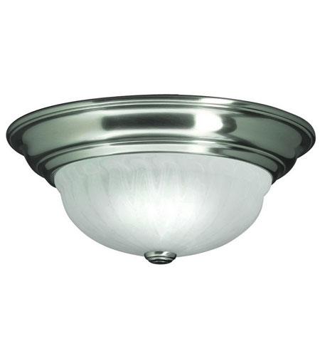Dolan Designs Richland 2 Light Flushmount in Satin Nickel 522-09 photo