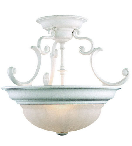 Dolan Designs Richland 2 Light Semi-Flush Mount in Classic White 524-32 photo