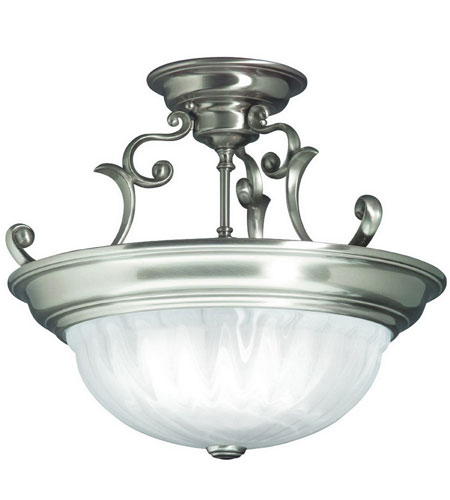 Dolan Designs Richland 3 Light Semi-Flush Mount in Satin Nickel 525-09 photo