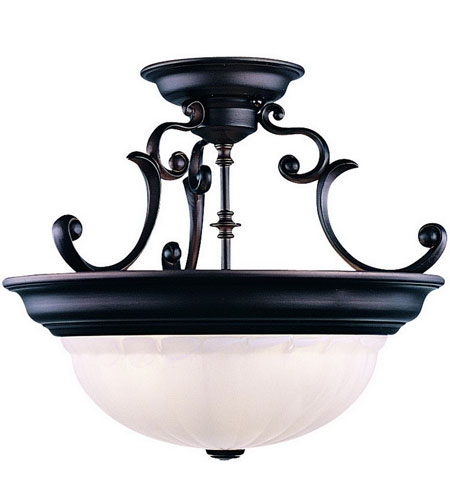 Dolan Designs Richland 3 Light Semi-Flush Mount in Royal Bronze 525-30 photo