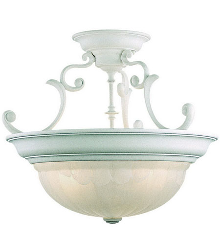 Dolan Designs 525-32 Richland 3 Light 17 inch Classic White Semi-Flush Mount Ceiling Light in Alabaster photo