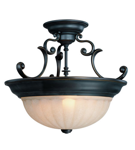 Dolan Designs Richland 3 Light Semi-Flush Mount in Bolivian 525-78 photo