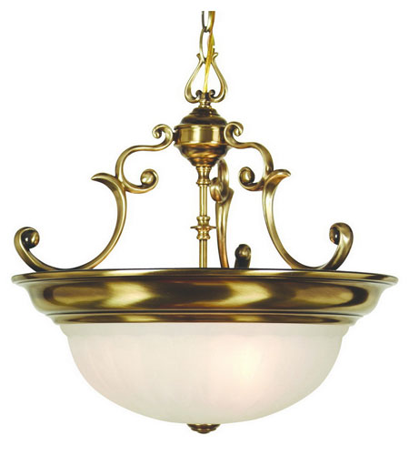 Dolan Designs Richland 3 Light Pendant in Old Brass 527-18 photo