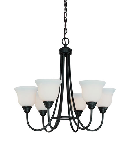 Dolan Designs Willow Point 6 Light Chandelier in Olde World Iron 540-34 photo