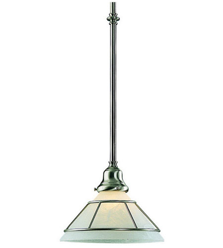Dolan Designs Craftsman 1 Light Mini Pendant in Satin Nickel 621-09 photo