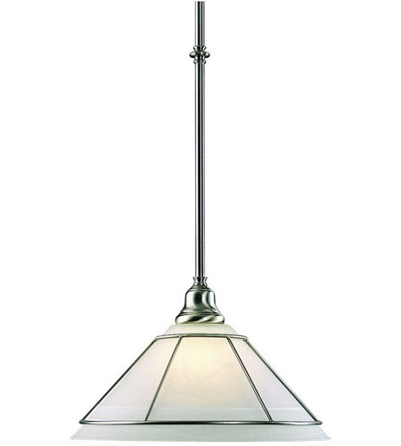 Dolan Designs 622-09 Craftsman 1 Light 9 inch Satin Nickel Pendant Ceiling Light photo