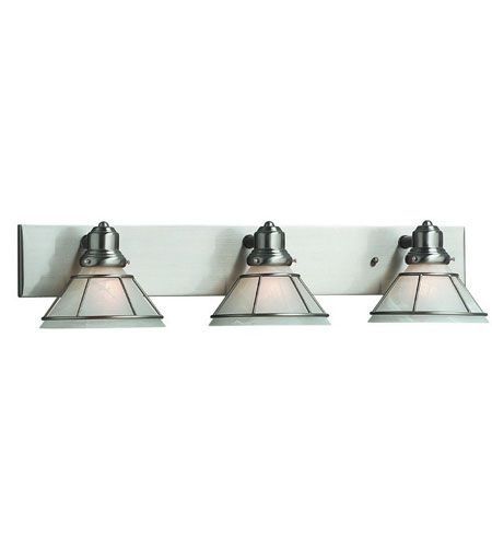Dolan Designs 633-09 Craftsman 3 Light 28 inch Satin Nickel Bath Vanity Wall Light photo