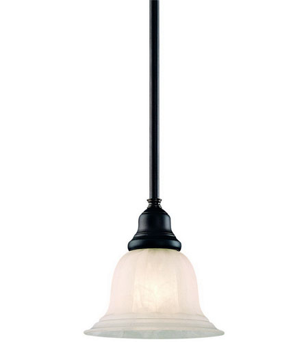 Dolan Designs 649-30 Richland 1 Light 7 inch Royal Bronze Mini Pendant Ceiling Light in Alabaster photo