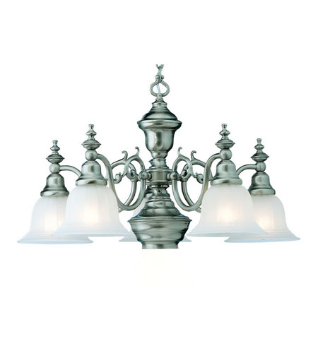 Dolan Designs Richland 6 Light Chandelier in Satin Nickel 660-09 photo