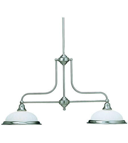 Dolan Designs Richland 2 Light Island Light in Satin Nickel 662-09 photo