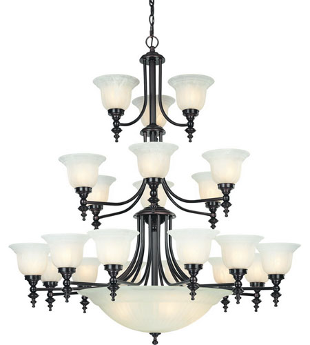 Dolan Designs Richland 24 Light Chandelier in Royal Bronze 663-30 photo