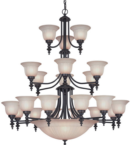 Dolan Designs 663-78 Richland 24 Light 44 inch Bolivian Chandelier Ceiling Light in Carmelized photo