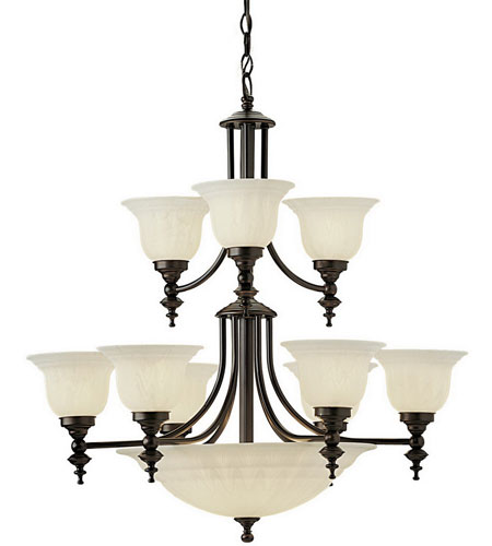 Dolan Designs 664-30 Richland 12 Light 30 inch Royal Bronze Chandelier Ceiling Light in Alabaster photo